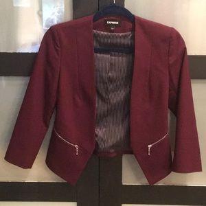 EXPRESS cropped stretch blazer NWOT